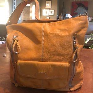 Banana republic yellow leather bag